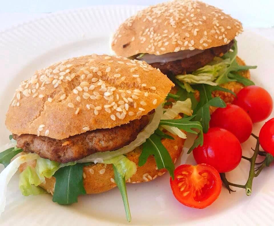 Pão de Hambúrguer – Low Carb, Sem Glúten, Sem Lacticínios