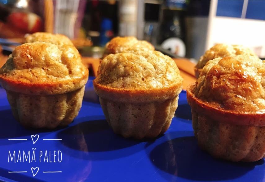 Muffins de Coco e Banana – Sem Glúten, Sem Lacticínios, Sem Adição de Açúcares