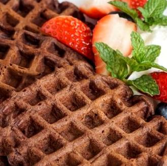 Waffles de chocolate – Sem Glúten, Sem Lacticínios