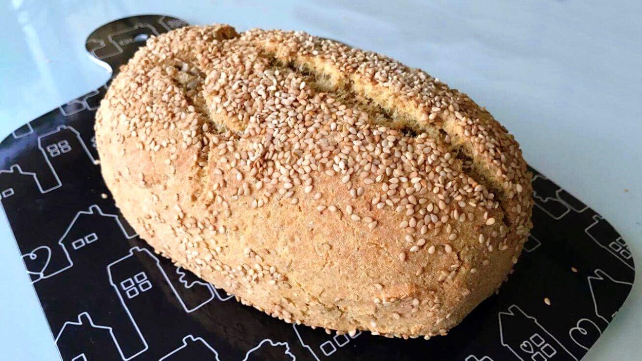 Pão de Linhaça e Sementes de Girassol – Paleo, Low Carb, Sem Glúten, Sem Lacticínios
