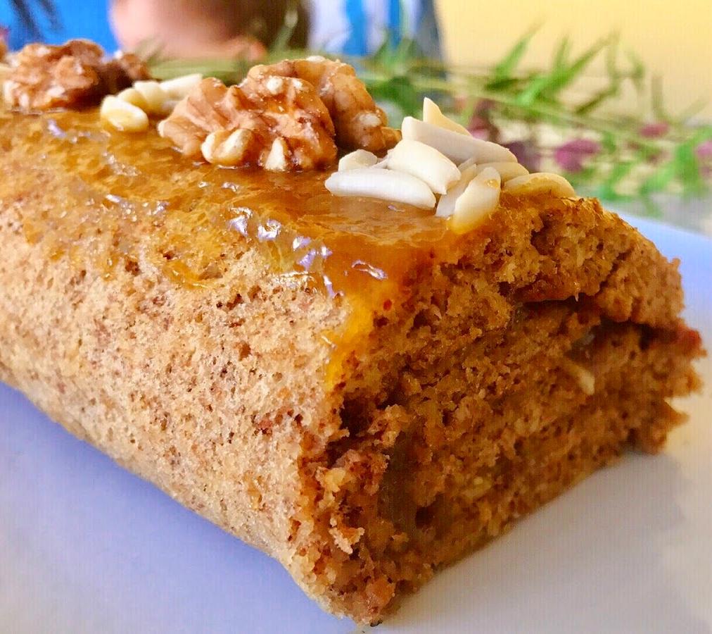 Torta de Noz e Amêndoa com Doce de Ovos – Sem Glúten, Sem Lacticínios