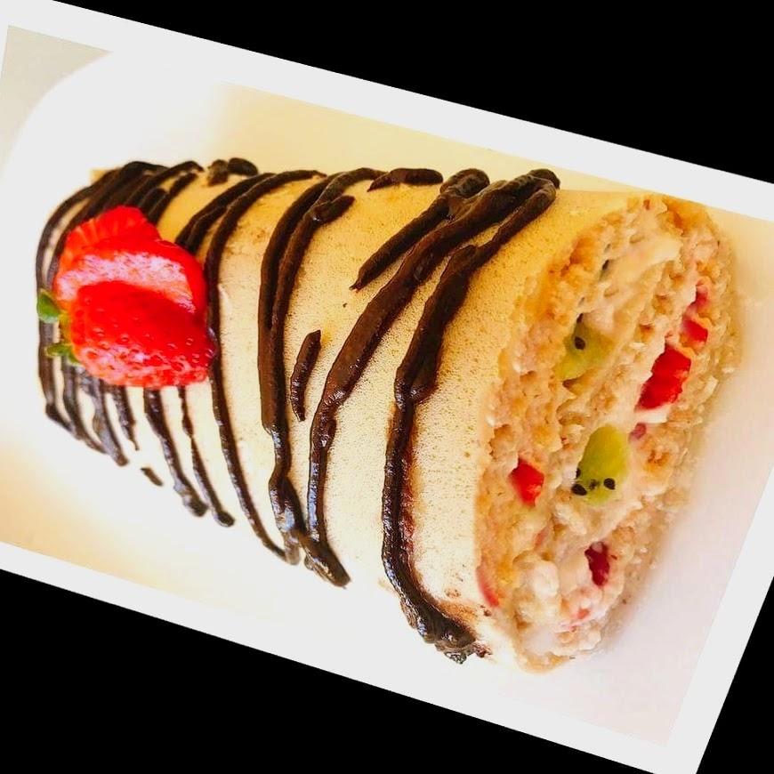 Torta de Fruta e Chantilly – Paleo, Sem Glúten, Sem Lacticínios