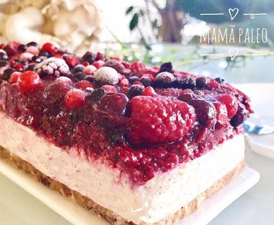 Semi-Frio – Cheesecake Vegan de Frutos Vermelhos – Low Carb
