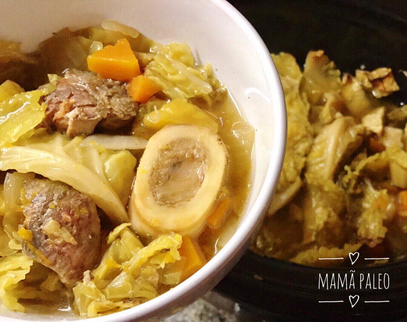 Sopa de Couve com Ossobuco – Paleo, Low Carb, Sem Glúten