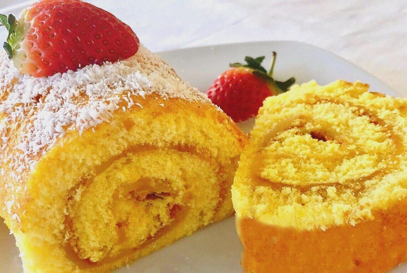 Torta com Doce de Ovos – Paleo, Low Carb, Sem Glúten, Sem Lacticínios