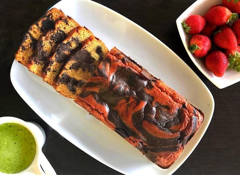 Bolo Mármore de Cenoura e Chocolate – Sem Glúten, Sem Lacticínios