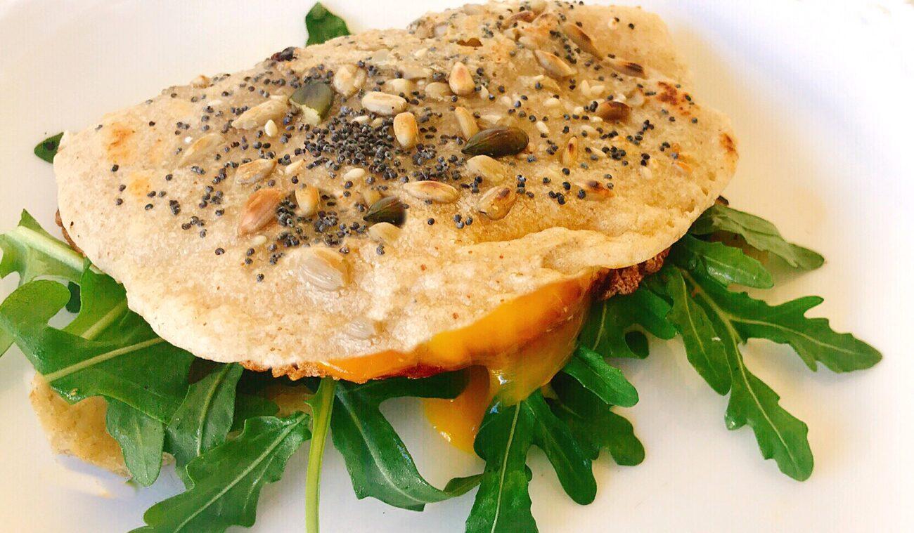 Pão Chapata de Frigideira em 5 minutos – Vegan, Sem Glúten, Sem Lacticínios, Sem Ovo