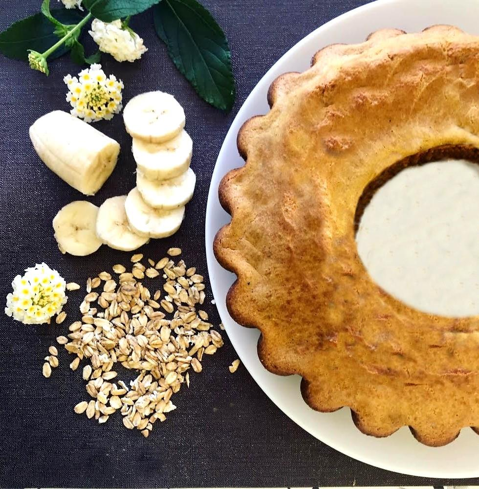 Bolo de Aveia e Banana – Sem Glúten, Sem Lacticínios, Sem Adição de Açúcares