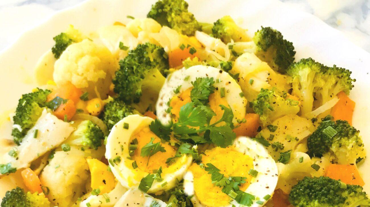 Salada Quente de Bacalhau – Low Carb, Sem Glúten, Sem Lacticínios