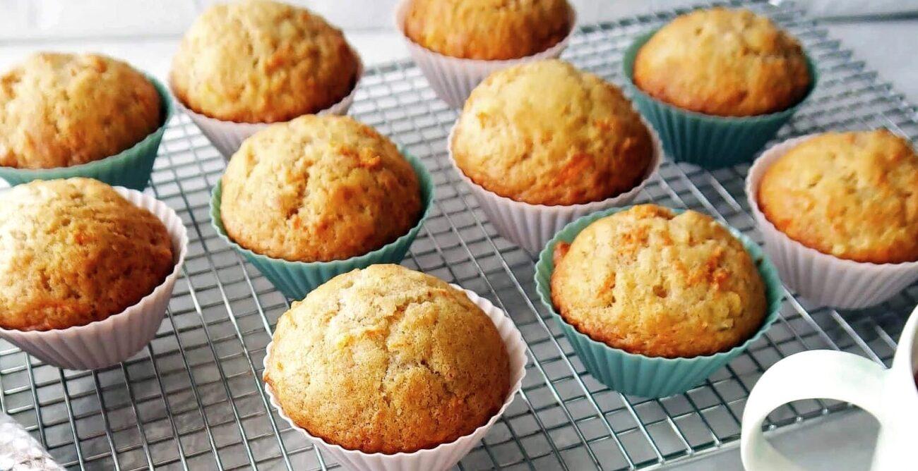 Muffins de Cenoura e Laranja – Sem Glúten, Sem Lacticínios