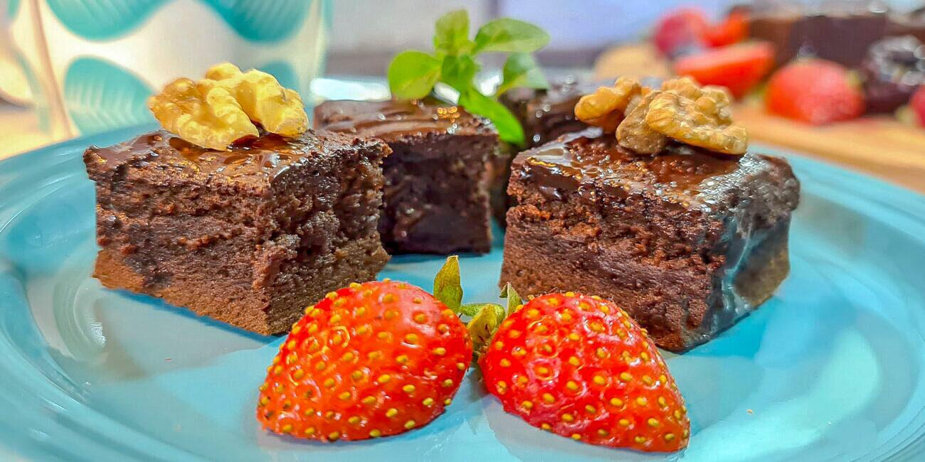 Brownies Low Carb S/ Farinha – Sem Glúten, Sem Lacticínios