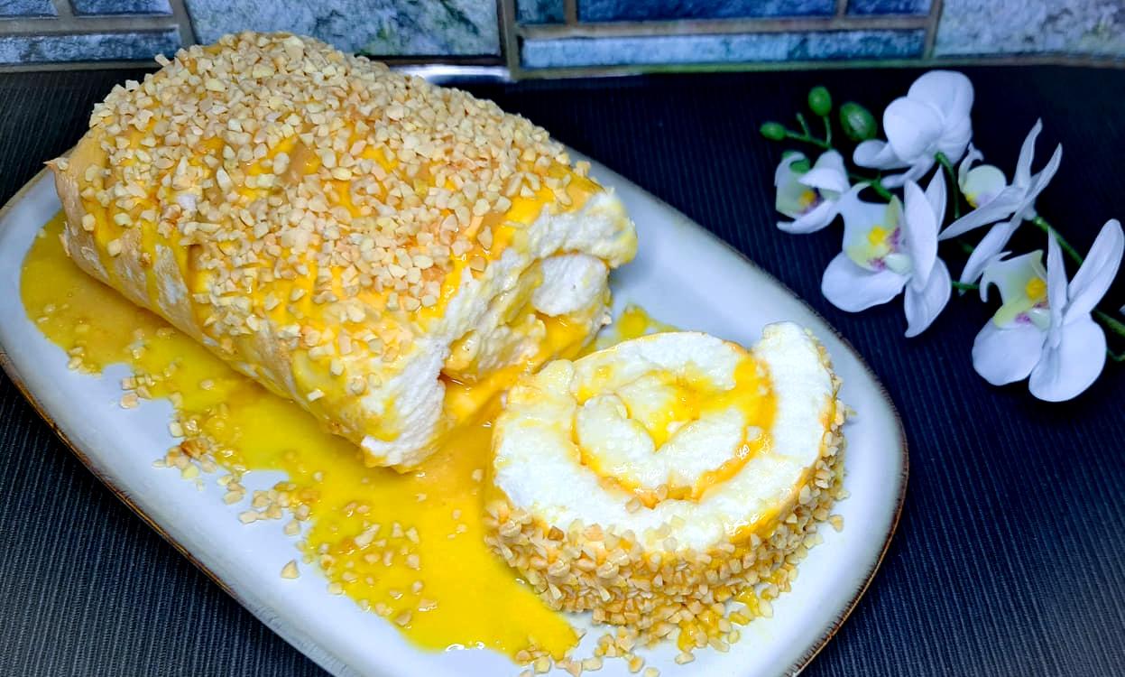 Torta de Claras com Doce de Ovos – Low Carb, Sem Glúten
