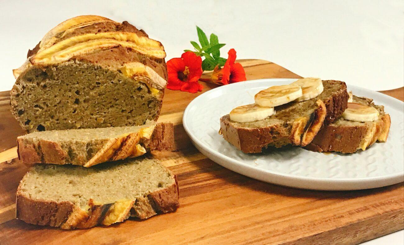 Banana Bread que se prepara em 5 minutos – Sem Glúten, Sem Lacticínios