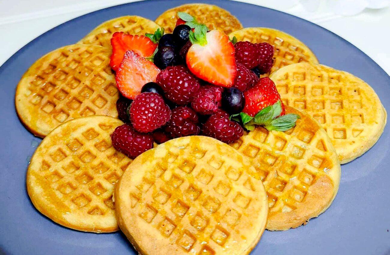 Waffles / Panquecas de Limão – Sem Glúten, Sem Lacticínios