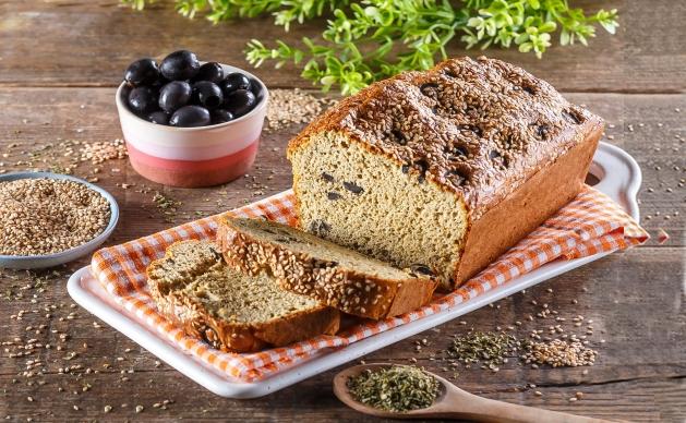 Pão de Orégãos e Azeitonas – Low Carb, Sem Glúten